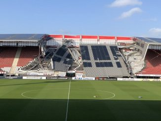 Eredivisie club stadium roof partially collapses